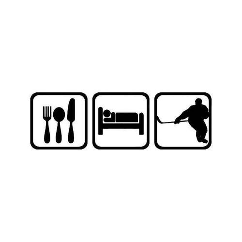 Eat Sleep Ice Hockey Sport Vinyl Sticker