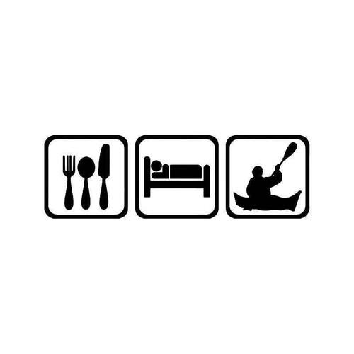 Eat Sleep Kayaking Men 1 Vinyl Sticker