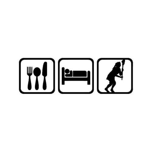 Eat Sleep Lacrosse Women Sport Vinyl Sticker