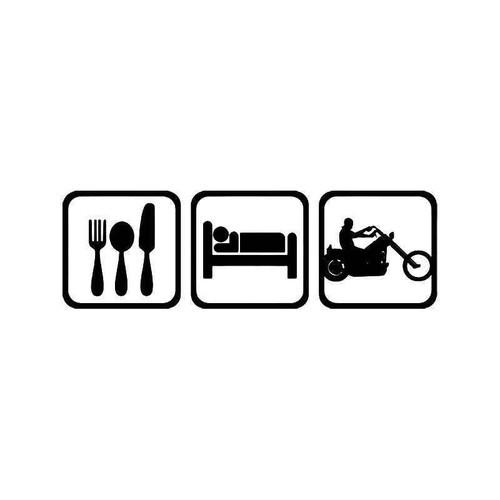 Eat Sleep Motorcycle Vinyl Sticker