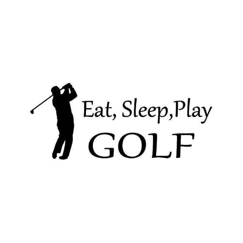 Eat Sleep Play Golf Vinyl Sticker