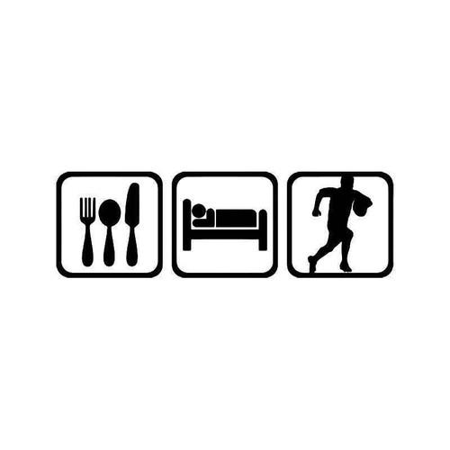 Eat Sleep Rugby Sport Vinyl Sticker