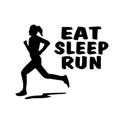 Eat Sleep Run Marathon Runner Vinyl Sticker