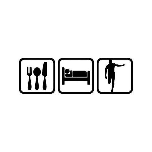 Eat Sleep Running Men Vinyl Sticker