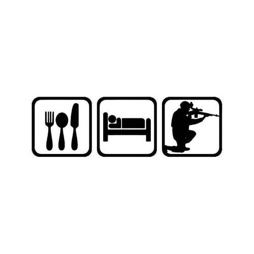 Eat Sleep Sniper Military Vinyl Sticker
