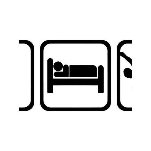 Eat Sleep Snowboarding Snowboard 2 Vinyl Sticker