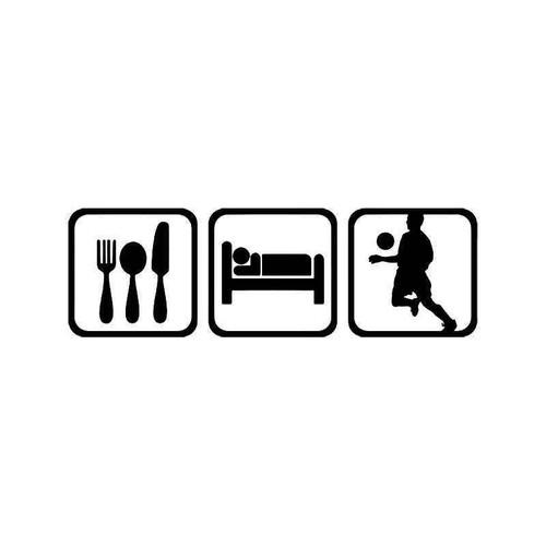 Eat Sleep Soccer Men Vinyl Sticker