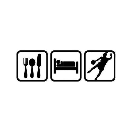 Eat Sleep Soccer Women Vinyl Sticker