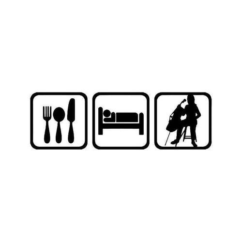 Eat Sleep Viola Music Vinyl Sticker