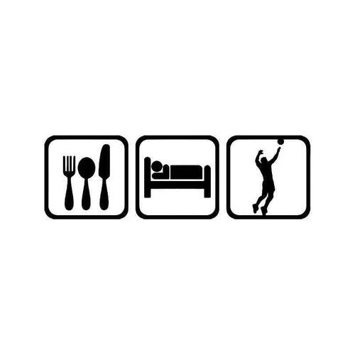 Eat Sleep Volleyball Men Vinyl Sticker