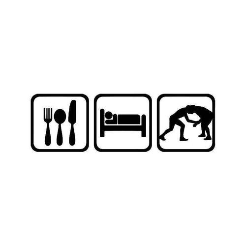 Eat Sleep Wrestle Wrestling Vinyl Sticker