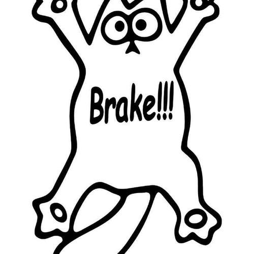 E Cat Brake Vinyl Sticker