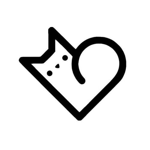 E Cat He Vinyl Sticker