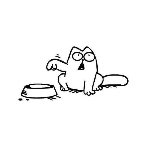 E Cat Hungry 1 Vinyl Sticker