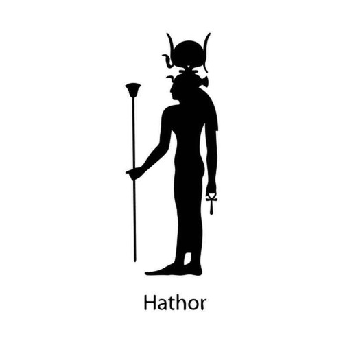 Egyptian God Hathor 1228 Vinyl Sticker