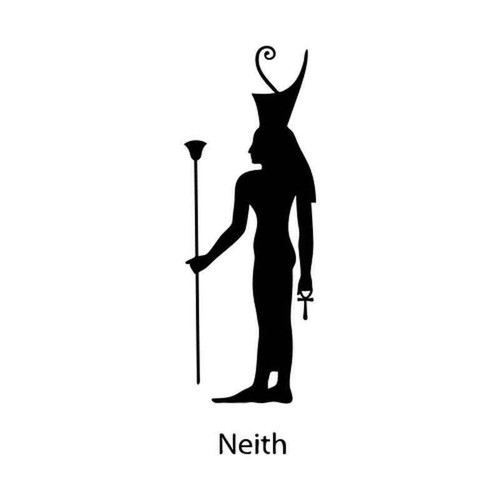 Egyptian God Neith 1242 Vinyl Sticker