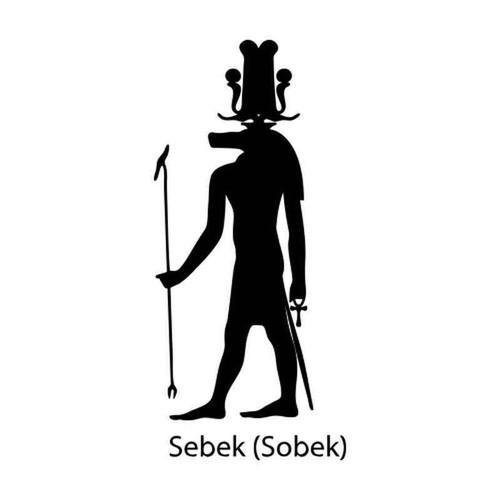 Egyptian God Sebek 1245 Vinyl Sticker