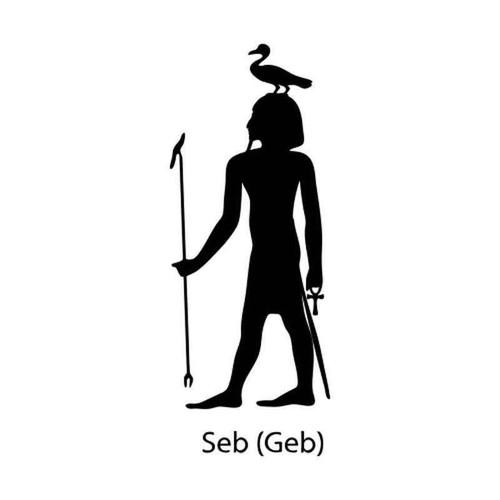 Egyptian God Seb 1236 Vinyl Sticker