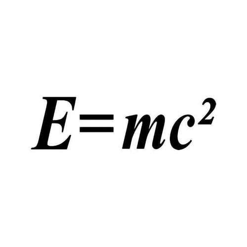 E Mc Square Einstein Vinyl Sticker