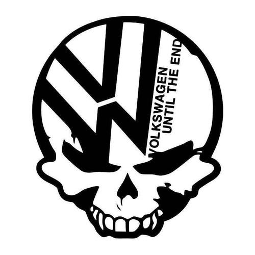 Euro Volkswagen Death Skull Vinyl Sticker