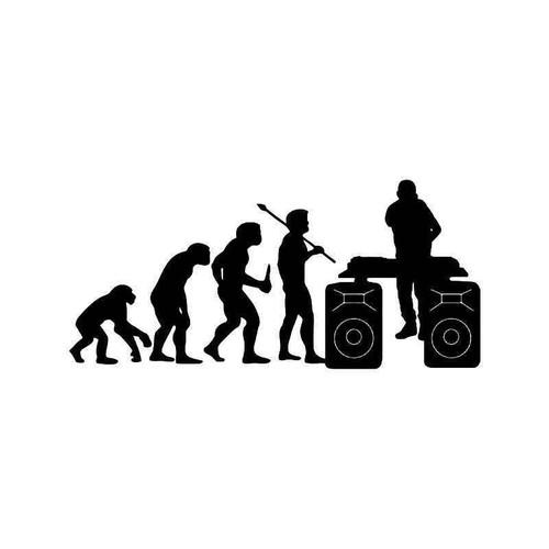 Evolution Of Dj Music Club Vinyl Sticker