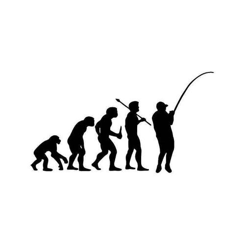 Evolution Of Fishing Fish Vinyl Sticker