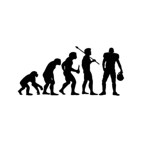 Evolution Of Football Sports Vinyl Sticker