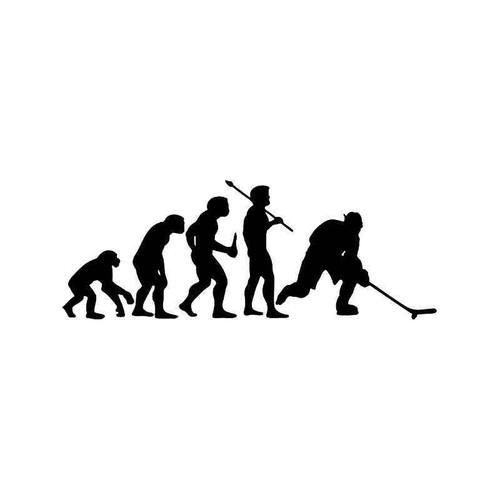 Evolution Of Hockey Sports Vinyl Sticker