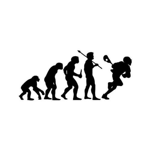 Evolution Of Lacrosse Men Sports Vinyl Sticker