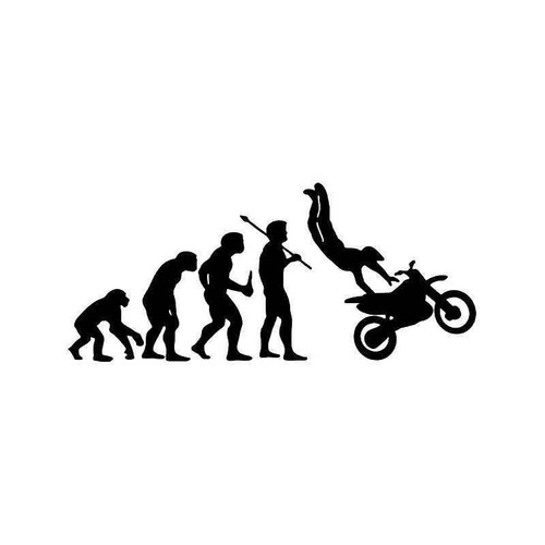 Evolution Of Motocross Racing Vinyl Sticker