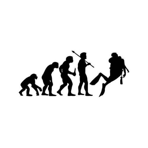 Evolution Of Scuba Diving Sports Vinyl Sticker