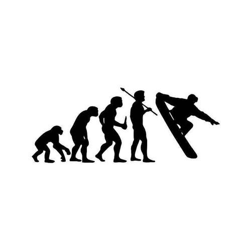 Evolution Of Snowboarding Snowboard Sports Vinyl Sticker