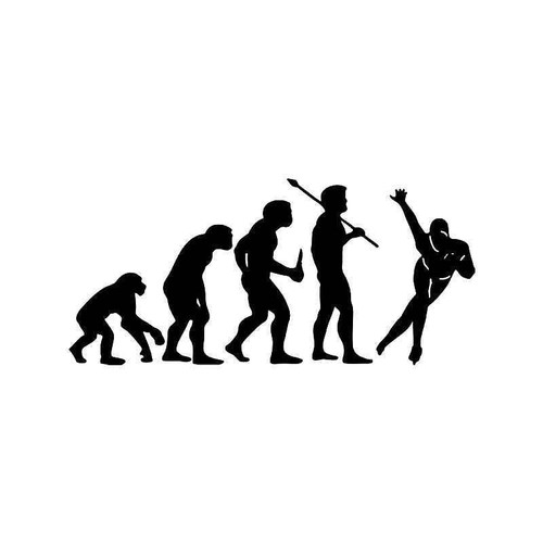 Evolution Of Speed Skating Sports Vinyl Sticker