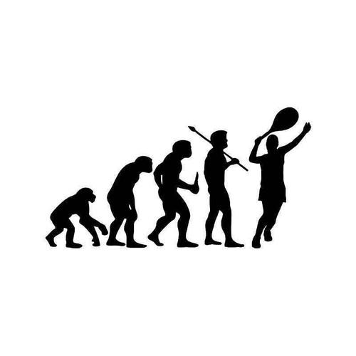Evolution Of Tennis Sports Vinyl Sticker