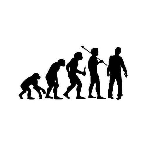 Evolution Of Zombie Walking Dead Vinyl Sticker