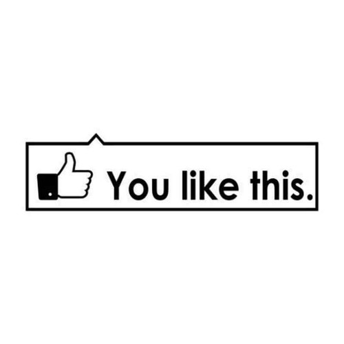 Facebook Like This 696 Vinyl Sticker