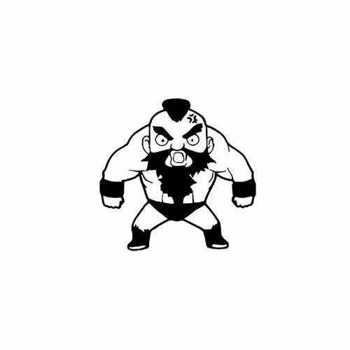 Street Fighter Xangief  Vinyl Decal Sticker  Size option will determine the size from the longest side Industry standard high performance calendared vinyl film Cut from Oracle 651 2.5 mil Outdoor durability is 7 years Glossy surface finish
