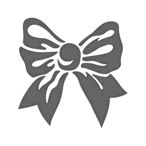 Fancy Bow Tie Ribbon Vinyl Sticker