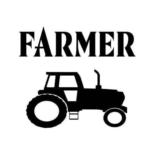Farmer Tractor Vinyl Sticker