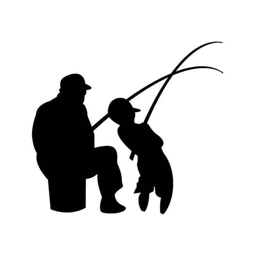 Father Son Fishing Vinyl Sticker