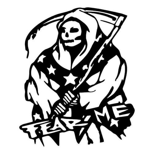 Fear Me Rebel Grim Reaper Vinyl Sticker