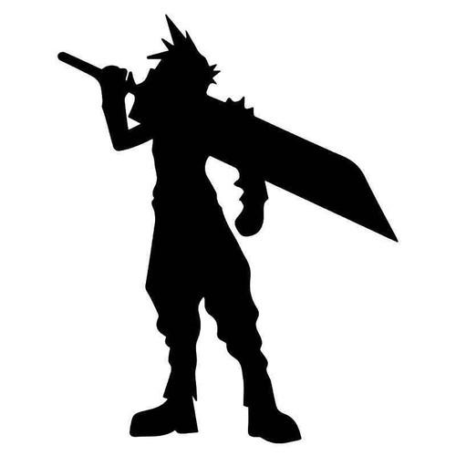 Final Fantasy 7 Cloud Gaming Vinyl Sticker