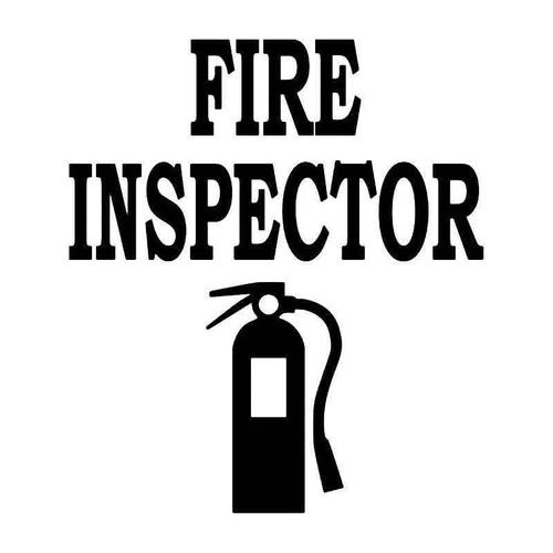 Fire Inspector Vinyl Sticker