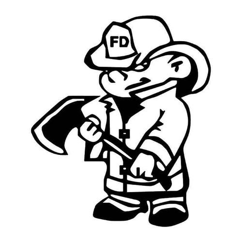 Fireman Firefighter Axe 1 Vinyl Sticker