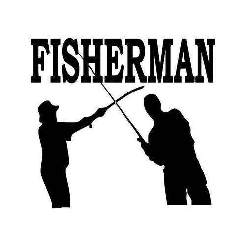 Fisherman Fishing Vinyl Sticker
