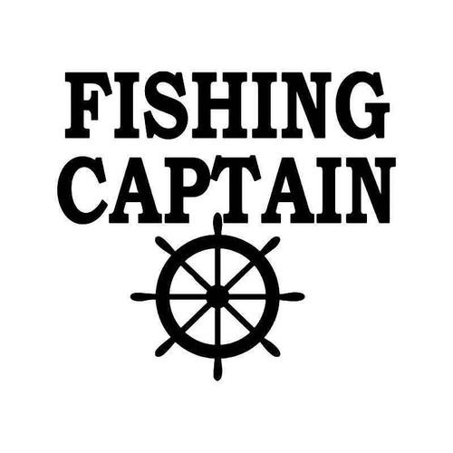 Fishing Captain Vinyl Sticker