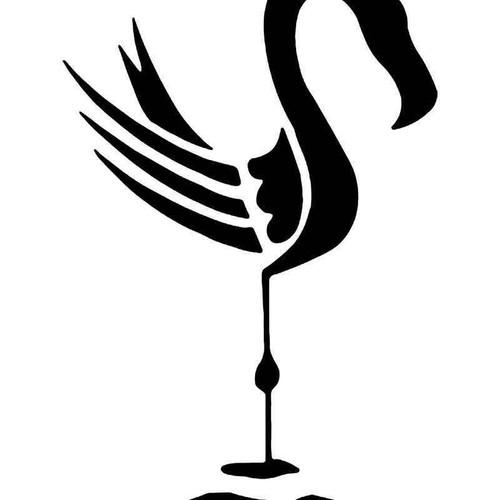 Flamingo Bird 5 Vinyl Sticker