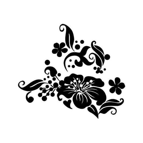 Flowers Hibiscus Vinyl Sticker