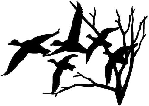 Flying Ducks Hunting