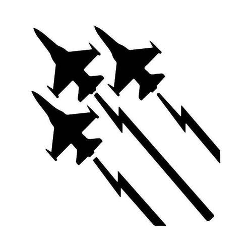 Flying Jets Usaf Vinyl Sticker